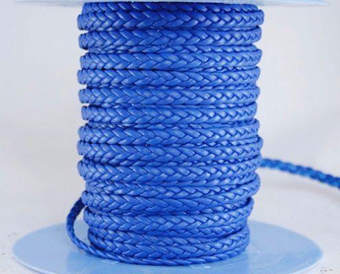 Trenza plana azul 3 cabos. Trenzados Indimar