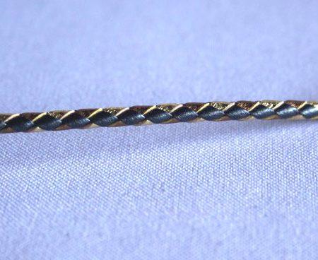 Trenza 4 cabos redonda bicolor