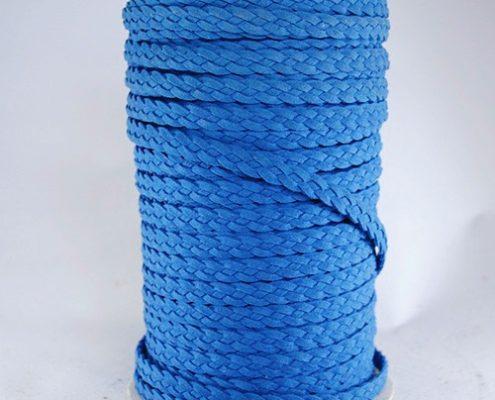 Trenza 4 cabos plana 10mm Azul