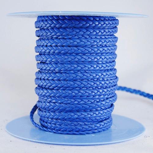 Trenza plana azul 3 cabos