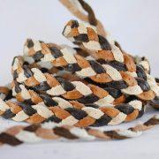 Trenza de 3 cabos con ribete tricolor